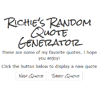 quote generator screenshot